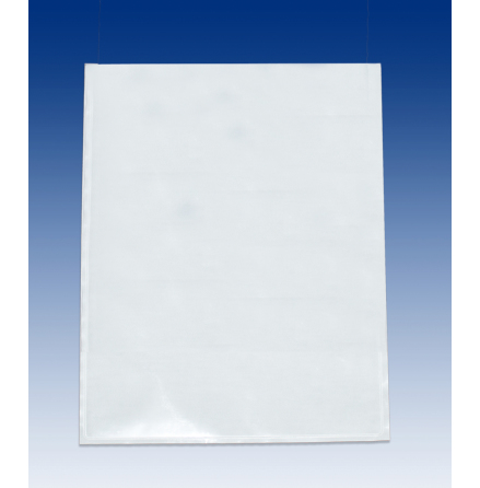 Self-adhesive pocket, open short side