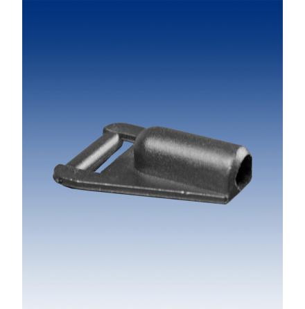 Single prong adapter 6mm black