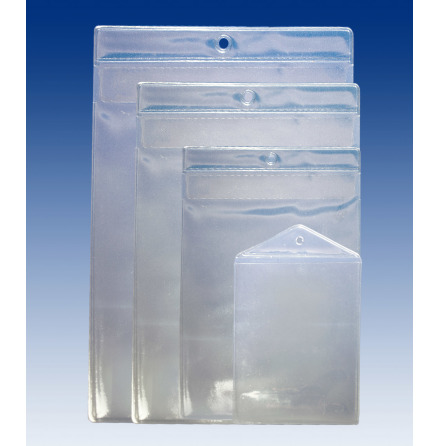 Label pockets with hole