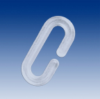 C-Hook clear plastic 40 mm