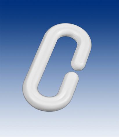C-Hook white plastic 40 mm