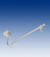 Merchandising clamp, white ABS