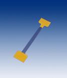 Twin Stick 75 mm, 0,25mm Apet