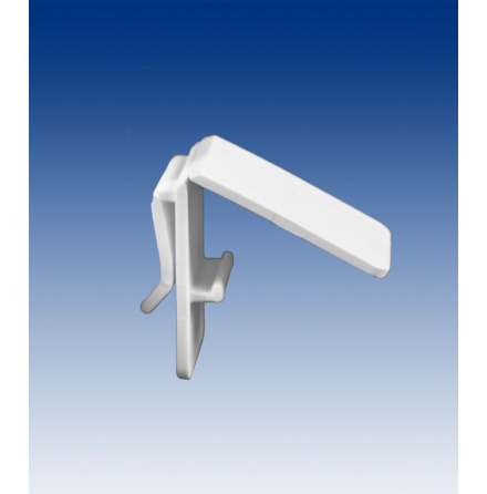 Merchandising clamp, white ABS