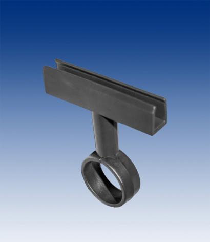 Tube clip for frame, black