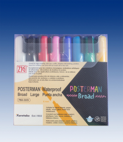 1 set with 8 pcs Posterman 6mm