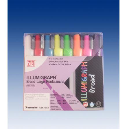 1 set with 8 pcs Illumigraph 6mm Wet-wipe