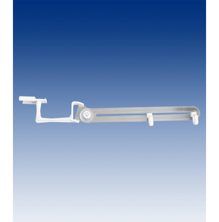 Banner holder with 250mm arm, 2 hooks