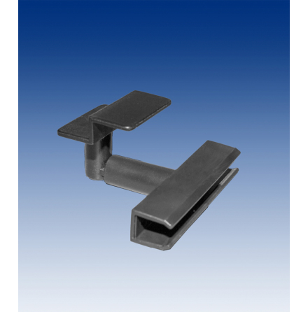 Slatwall holder for frame, black