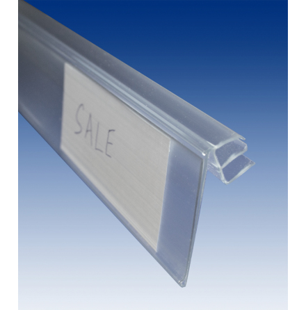 Label holder for wire shelf 5-8mm