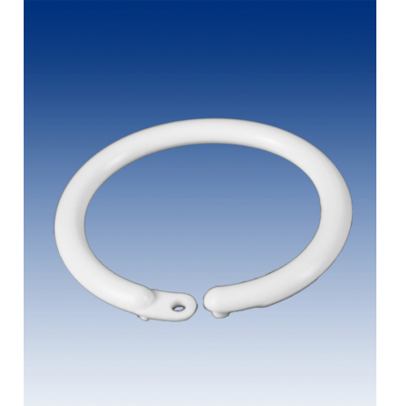 Round Lockable ring white