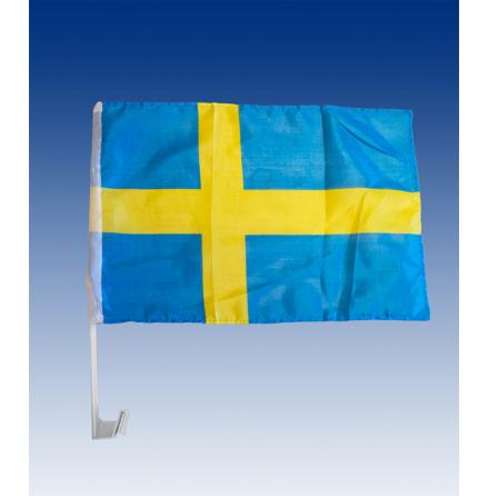 Flag pole car-flag