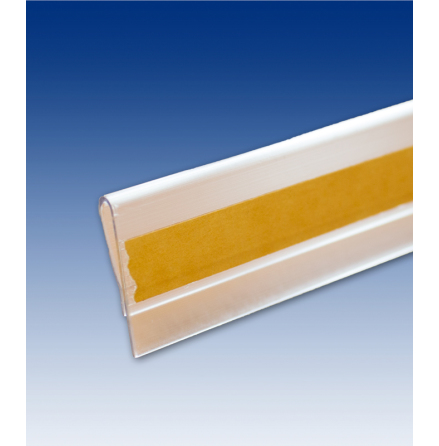 Placard strip with thin tape